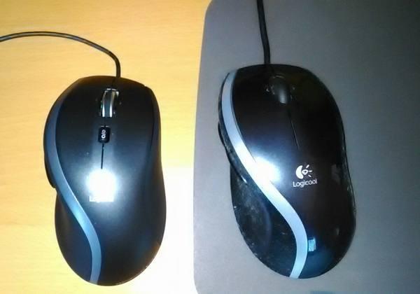 マウスM500とMX400